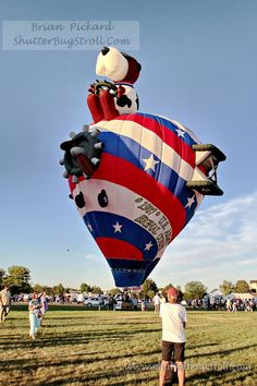 Snoopy as the Red Baron Hot Air Balloon