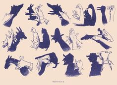 Hand Shadow Puppets Ombromania 1907 dictionary by wanderlustlounge, $2.75:
