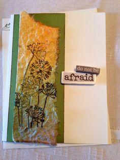 Handmade card/sympathy/do not be afraid