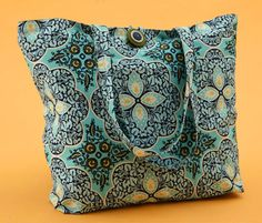 quilted bag - Neat fabric --- Bailey #146