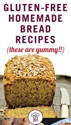 Gluten-Free Homemade Bread Recipes (These Are Yummy!) – Gluten-Free Homemade Bread Recipes (These Are Yummy! Gluten Free Zucchini Bread, Gluten Free Baking, Gluten Free Desserts, Dairy Free Recipes, Gluten Free Homemade Bread, Quinoa Bread, Bread Machine Recipes, Bread Recipes, Gf Recipes