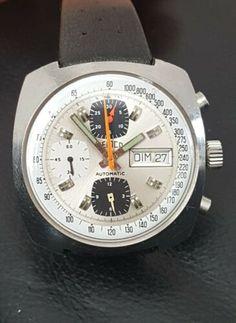 50b8b74392 Détails sur Montre de plongée Chronographe Automatic SEMCO VALJOUX 7750  Vintage
