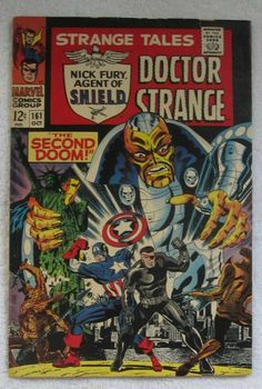 "Strange Tales <a class=""pintag searchlink"" data-query=""%23161"" data-type=""hashtag"" href=""/search/?q=%23161&rs=hashtag"" rel=""nofollow"" title=""#161 search Pinterest"">#161</a> (Oct 1967, Marvel) Dr. Strange G/VG 3.0"
