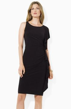 Lauren by Ralph Lauren Side Ruffle Jersey Sheath Dress available at  #Nordstrom