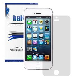 TOPSELLER! Halo Screen Protector Film High Definition (HD) Clear (Invisible) for Apple iPhone 5 5G LTE (3 Pack) with Lifetime Replace... $5.95