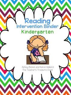 Kindergarten Reading Intervention Binder