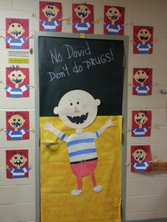 61 Ideas classroom door decorations for fall drug free for 2019 61 Ideas classroom door decorations for fall drug free f. - - 61 Ideas classroom door decorations for fall drug free for 2019 61 Ideas classroom door decorations for fall drug free f. Drug Free Door Decorations, School Door Decorations, Class Decoration, Drug Free Week, Drug Free Posters, No David, Red Ribbon Week, Classroom Door, Classroom Ideas