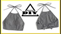 diy sewing clothes How to make a Gingham Crop Top Sewing Tutorials, Sewing Projects, Sewing Patterns, Dress Patterns, Sewing Crafts, Fashion Sewing, Diy Fashion, Fashion Brands, Diy Kleidung Upcycling