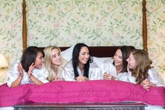 Bridal party chillin' on the four poster in the Master Suite. Master Suite, Wedding Venues, Toddler Bed, Bridal, Party, Poster, House, Home Decor, Wedding Reception Venues