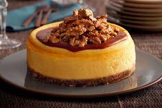 Cheesecake con noci e caramello salato