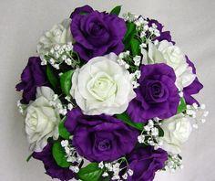 purple and white wedding bouquets Purple Wedding Bouquets
