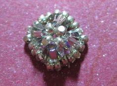 My Daily Bead: Beaded component: bead cap, dangle earring, stud earring