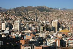 The city of La Paz, Belivia