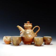 Crimson Laurel Gallery Bradley  Birkhimer Tea Pot with 4 Cups