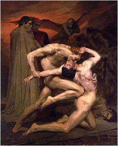 Dante & Virgil in Hell-Eugène Delacroix