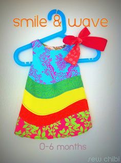 reversible baby dress!  two totally different looks!