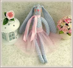 Stuffed bunny  ballerina rabbit hare doll child от MyShopDolls