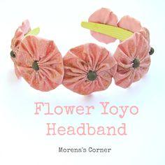 Flower Yoyo Headband | Morena's Corner #diy