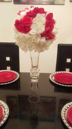 """18"""" Tall Wedding Centerpiece Vase, Glass Vase, Flower Vase, Candle Holder, Wedding Decor. by LadyJunon on Etsy"""