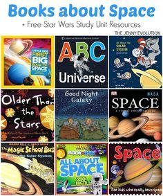 Space Books for Kids + Star Wars Study Unit Resources Preschool Books, Science Books, Science Activities, Activities For Kids, Space Activities, Kindergarten Learning, Science Ideas, Teaching Science, Preschool Ideas
