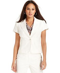 Macys - Nine West Short-sleeved Blazer