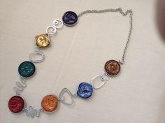 Collana realizzata con cialde da Vilma Perego milano
