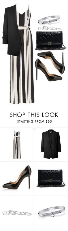 """#14053"" by vany-alvarado ❤ liked on Polyvore featuring Topshop, Helmut Lang, Christian Louboutin, Chanel, Kendra Scott and Hermès"