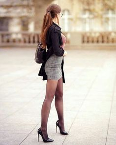 Mode Outfits, Sexy Outfits, Sexy Dresses, Girl Outfits, Sexy Legs And Heels, Sexy High Heels, Fashion Models, Girl Fashion, Womens Fashion