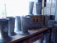 Unique Galvanized containers