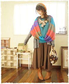 mori girl/cute/knitting/Japanese Fashion