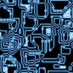 sci fi circuitry pattern | Blue Circuitry Texture