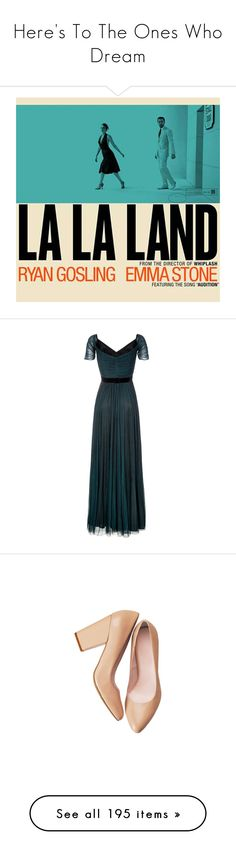 """""""Here's To The Ones Who Dream"""" by batmancrazy ❤ liked on Polyvore featuring lalaland, aesthetic, dresses, gowns, long dresses, vestidos, blue, evening/black tie, women and long evening dresses"""