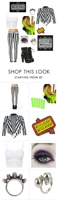 """Beetlejuice (Female Version)"" by hannahc1133 ❤ liked on Polyvore featuring Gathering Eye and Alexander McQueen"
