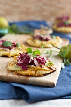 Mini-Pizza mit Birne und Radicchio © Sandra Cetin | Hase im Glück