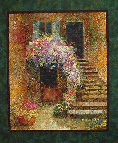 On this CD-ROM you will find my complete book I wrote on how to make an impressionistic fabric blended art quilt using 2 squares. This book is 107