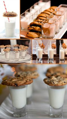cookie and milk bar | Milk and Cookies bar! How fun! Serve your ... | Leslie and Hope's Aw ...