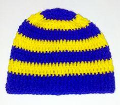 LSU  Tigers Handmade Football Crochet Adult Hat by SuperCrochetMom, $15.00