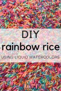 Easy rainbow rice re