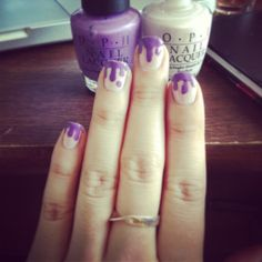 How to Do Dripping Nail Art