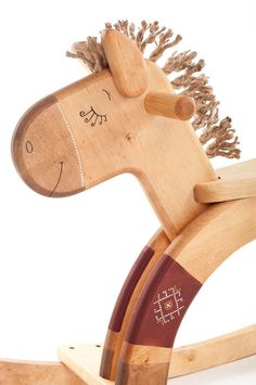 Wood Rocking Horse Wooden Rocking Toy Classic Kids by FriendlyToys