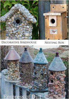 24. Stone Birdhouse