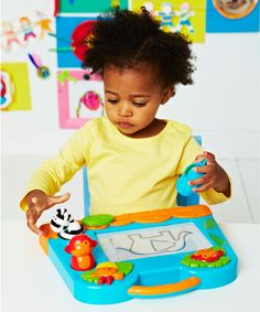 My First Scribbler means your toddler can enjoy scribbling, drawing, doodling and stamping whenever they like. Great for fun early creativity. Create Picture, New Pins, Early Learning, Cool Baby Stuff, Little People, Doodles, Children, Drawings, Mini