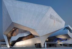 View the full picture gallery of German Pavilion Expo 2010 Shanghai Futurism Architecture, German Architecture, Concept Architecture, Beautiful Architecture, Interior Architecture, Shanghai, Neo Futurism, Temporary Architecture, Interior Design Boards
