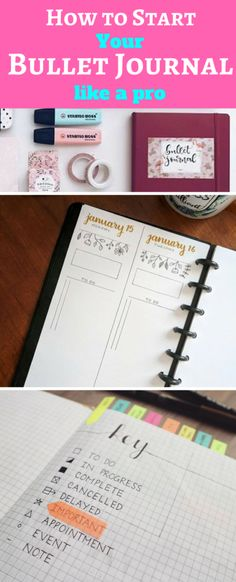 Learn everything you need to know to start your very first bullet journal!