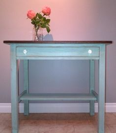 my new antique desk refinished by itsbetterthannew.blogspot.ca