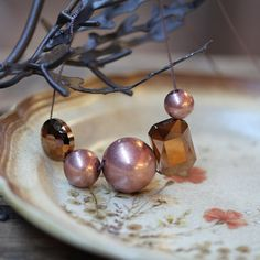 beaded beauty copper necklace - Ruche  $12.99