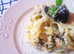 Recept Tagliatelle s ricottou a pečeným lilkem Tortellini, Penne, Ricotta, Waffles, Oatmeal, Food And Drink, Vegetarian, Breakfast, Fit