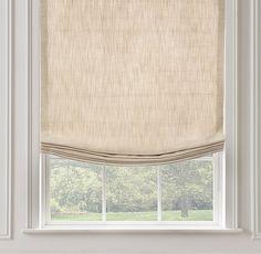 Perennials® Textured Linen Relaxed Roman Shade