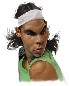 #Caricaturas graciosas de deporte #Rafael #Nadal Posted on soyunalbondiga.com
