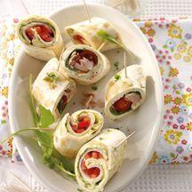 Mini Wrap Spieße mit Thunfisch und Geflügel PP 1